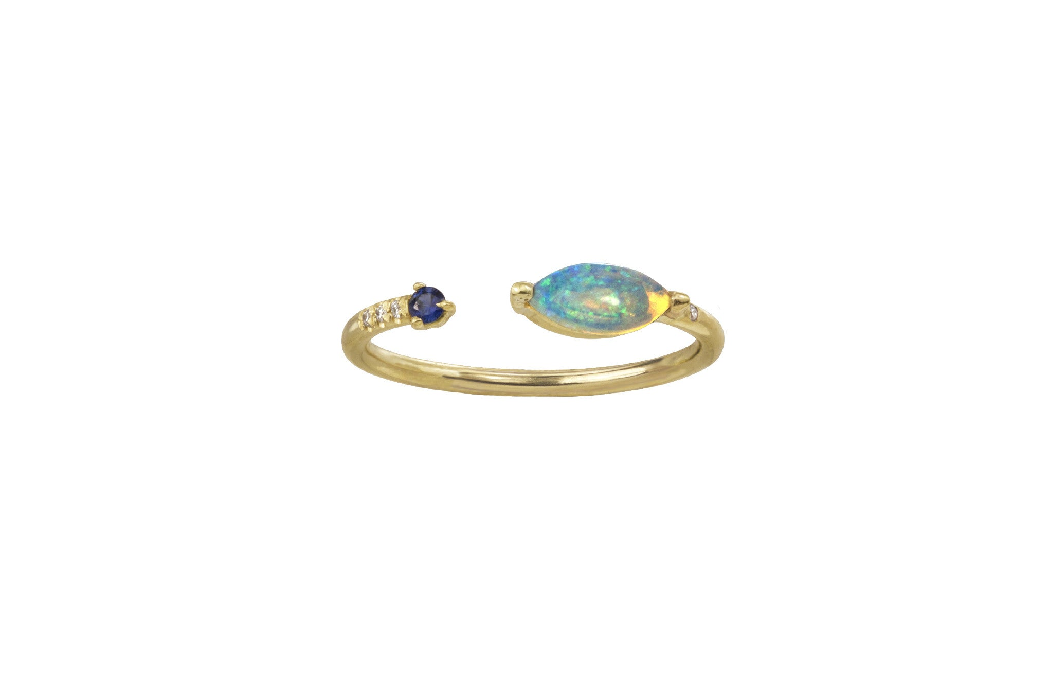 Open Marquise Opal Ring - Available at Blue Windows