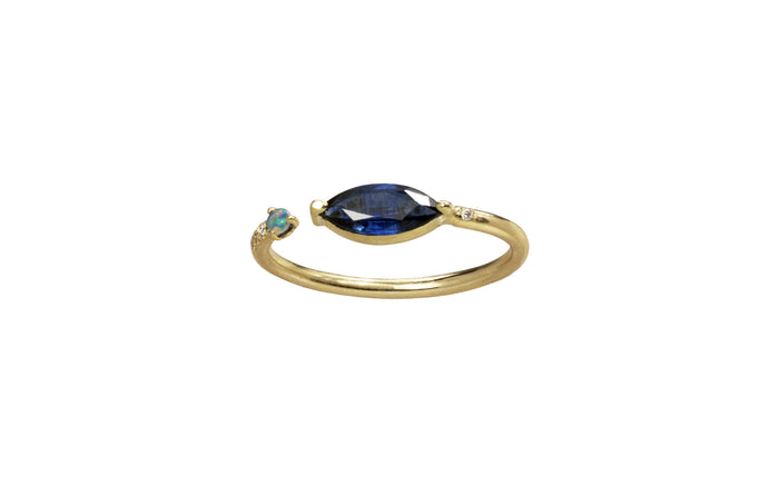 One of a Kind Open Marquise Sapphire Ring