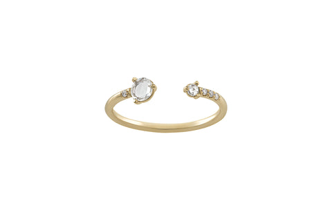 Open Rose Cut Diamond Ring