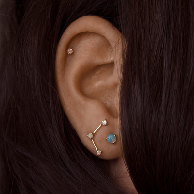 Limited Edition Three-Step Triangle Earring