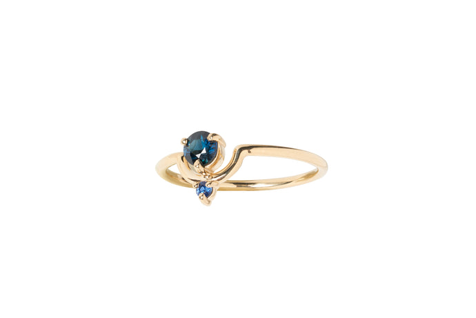 One of a Kind Small Nestled Sapphires Ring