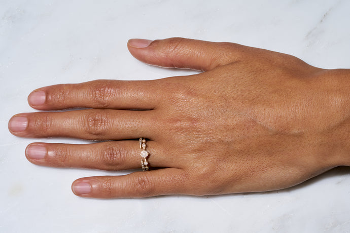 Limited Edition Champagne Small Horizon Ring