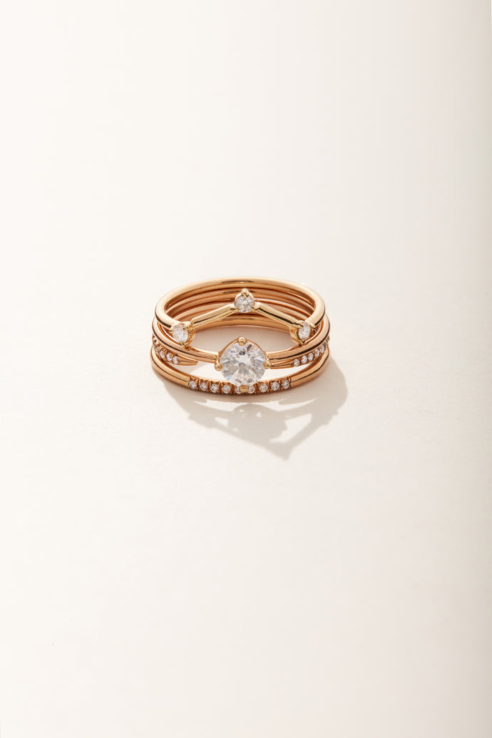 Medium Round Solitaire Ring