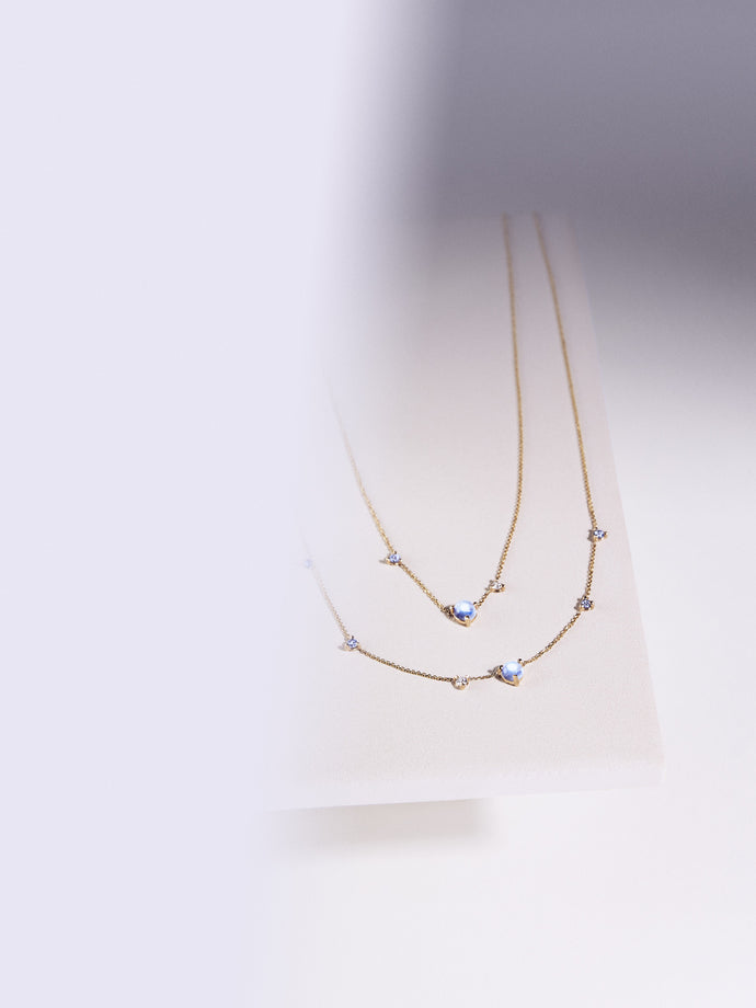 Tonal Three-Step Necklace
