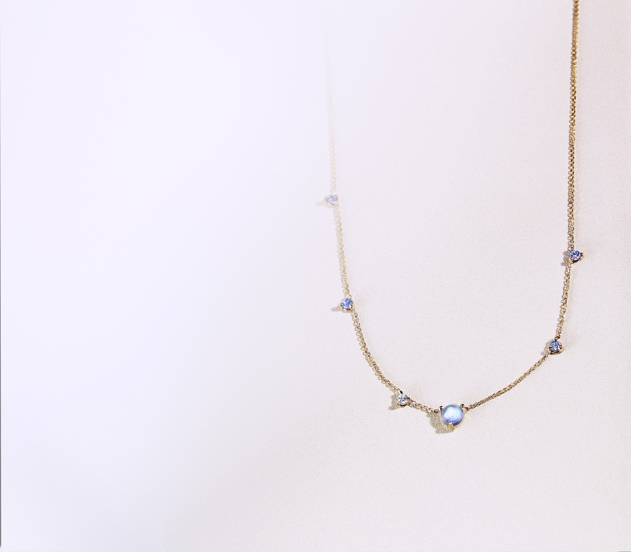 Tonal Linear Chain Necklace