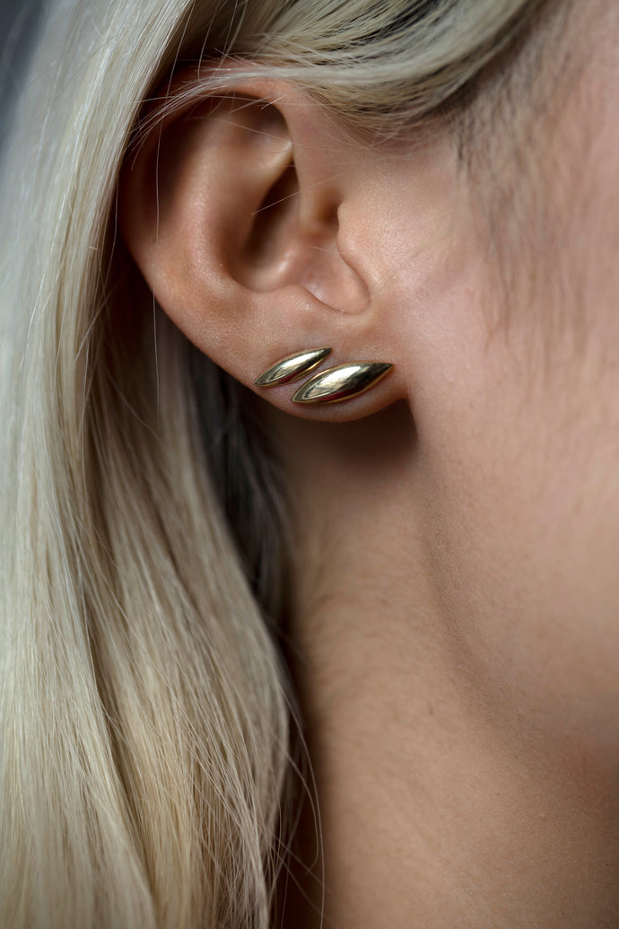Small Gold Eye Earrings