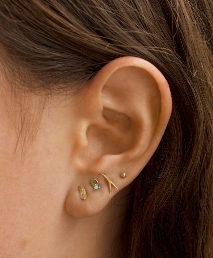 Small Disc Studs with Opals