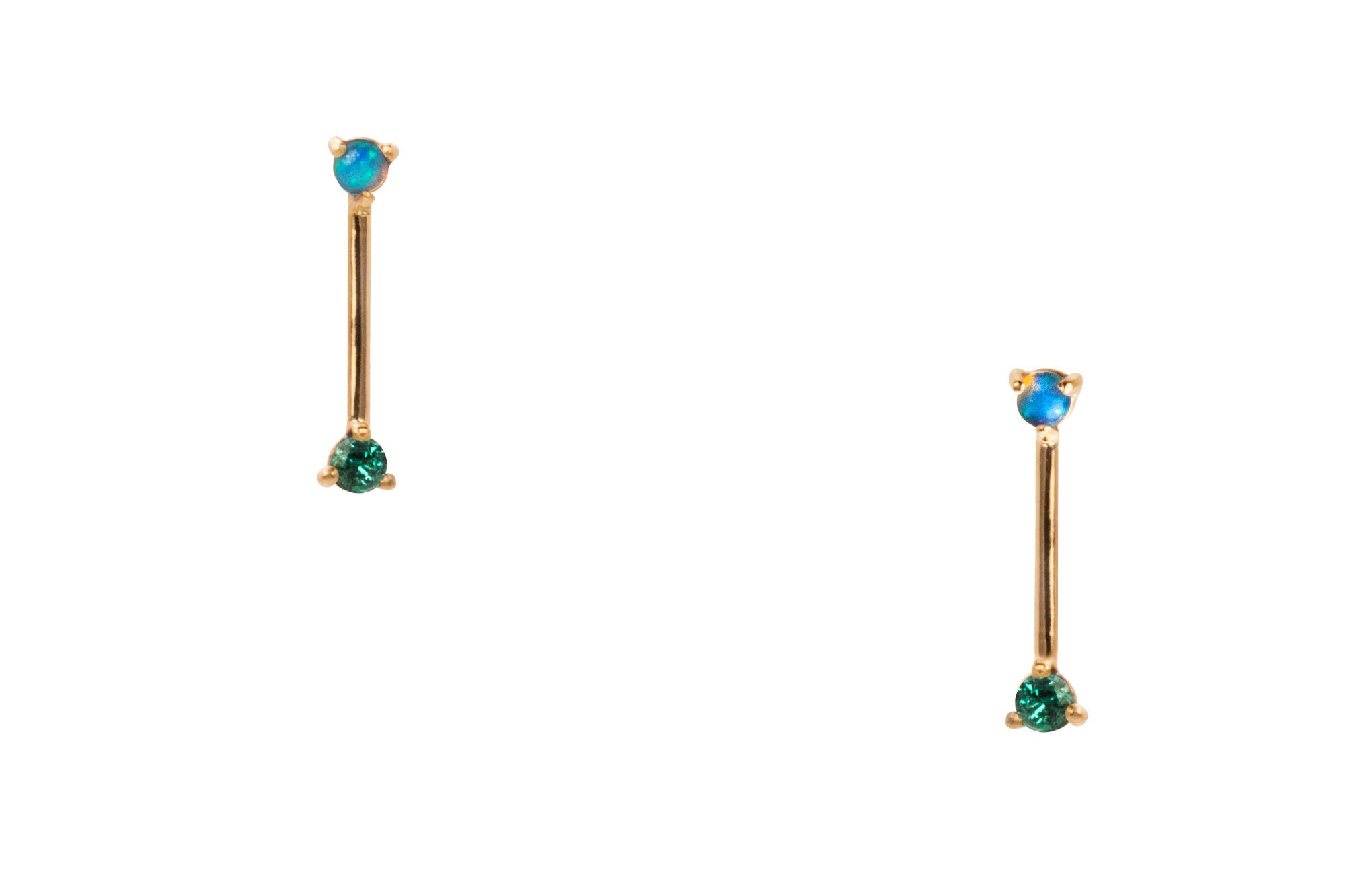 Two-Step Bar Earrings