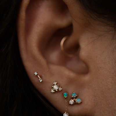 Dimple Bar Earrings