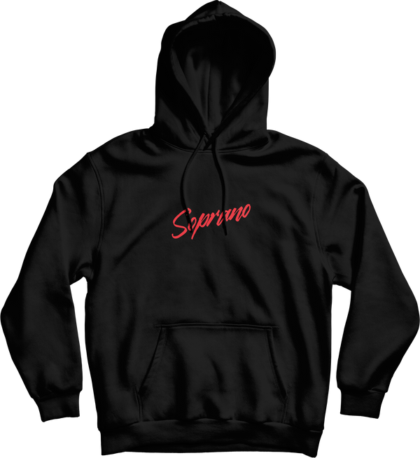 "SWEAT CAPUCHE ""TEAM SOPRANO"" - NOIR"