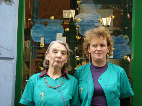 Sally and her mother Barbara outside our Ennis store