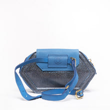 Load image into Gallery viewer, Hexagon Maxi Pouch Electric Blue