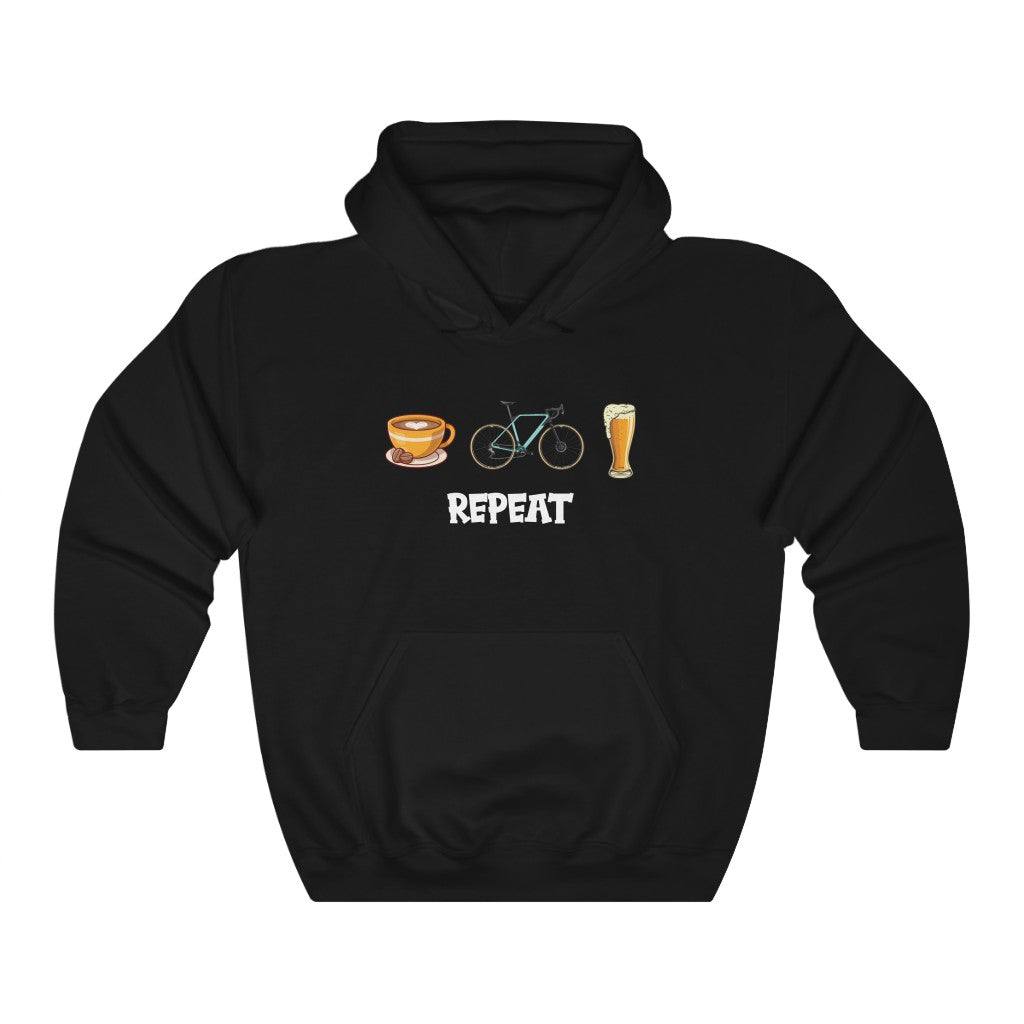 COFFEE | RIDE | BEER | REPEAT HOODY