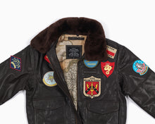 Load image into Gallery viewer, Summer Top Gun G1 Leather Jacket