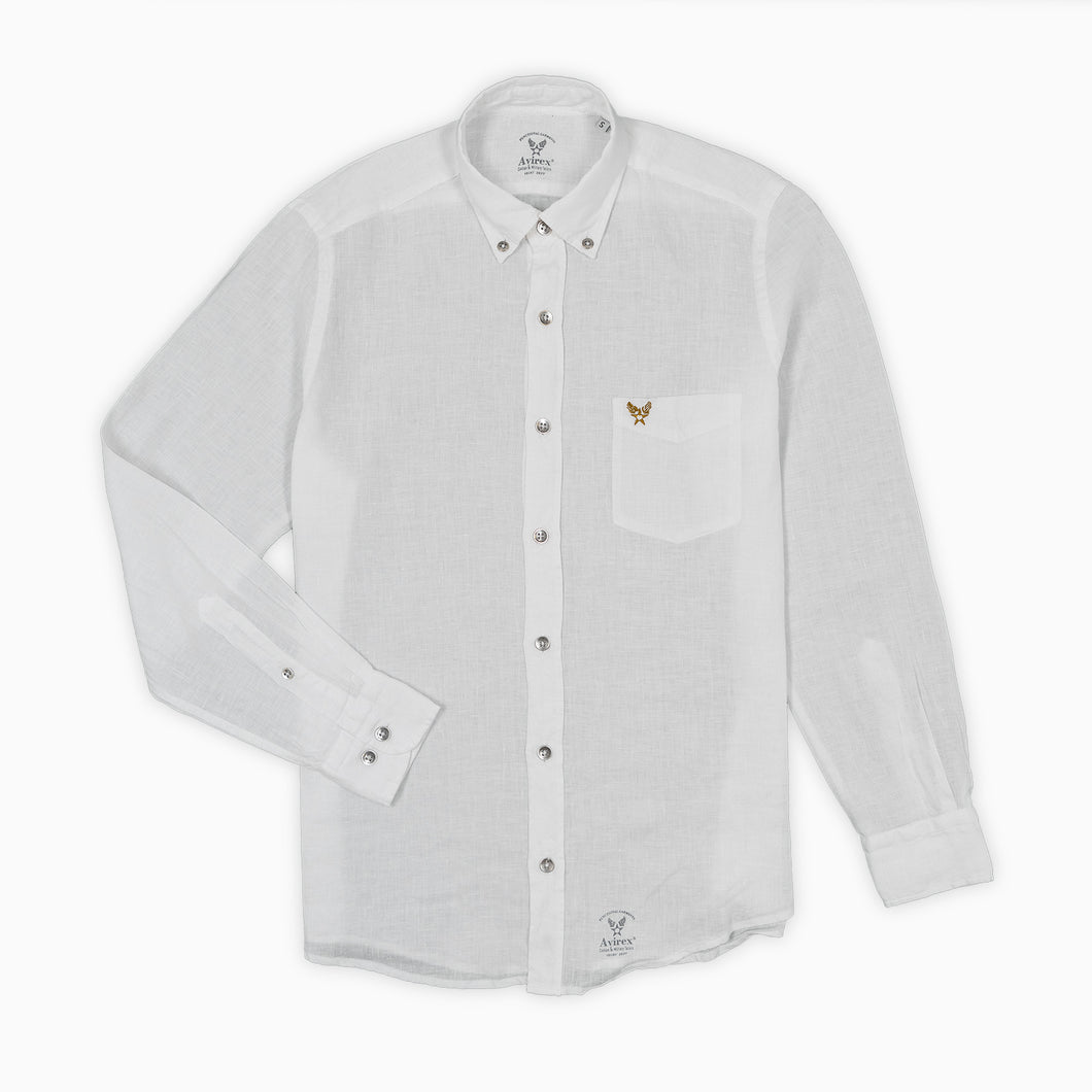 Linen Buckley Shirt - White