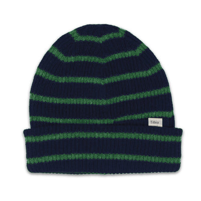 Tilley Merino Stripe Toque in Navy/Green