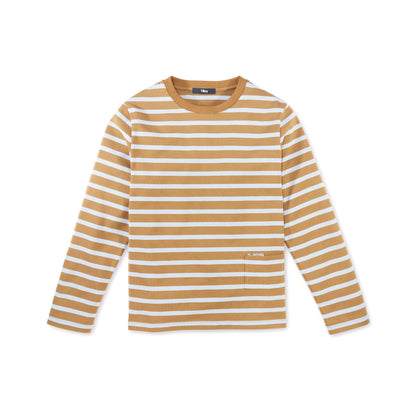 Tilley Women's Striped Long Sleeve Tee in Camel/Blue
