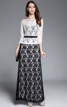 Load image into Gallery viewer, Online A-line White Long Sleeve Lace Long Formal Dress LFNC0036
