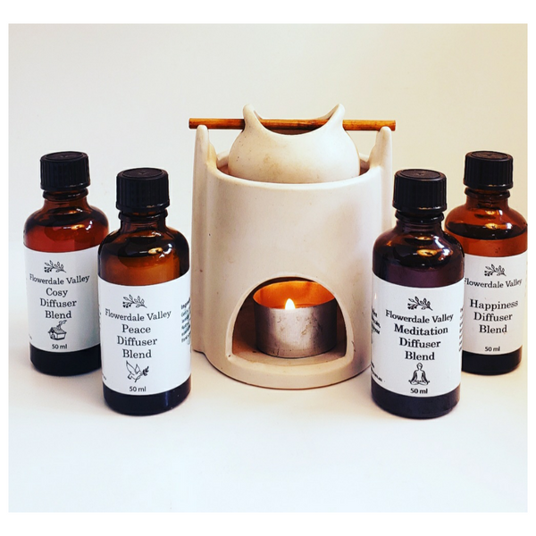 All four Essential Oil Blends