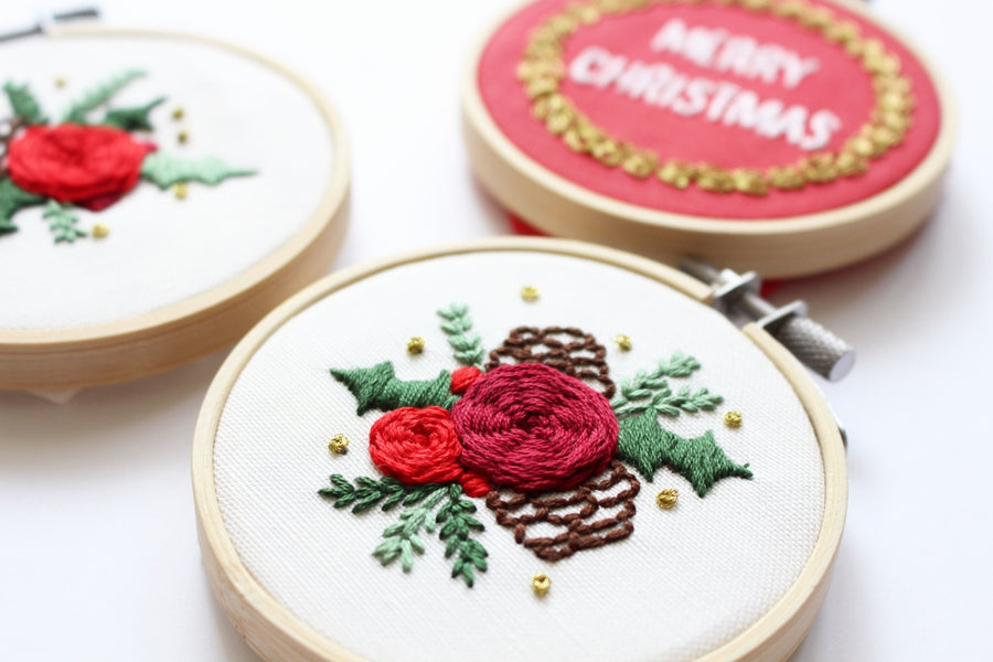 Mini Embroidery For Christmas