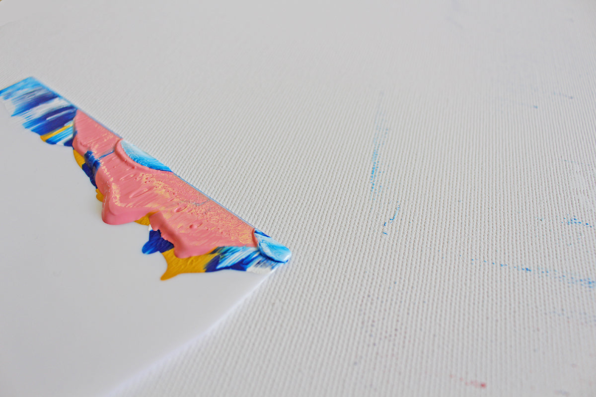 How to paint abstract wall art