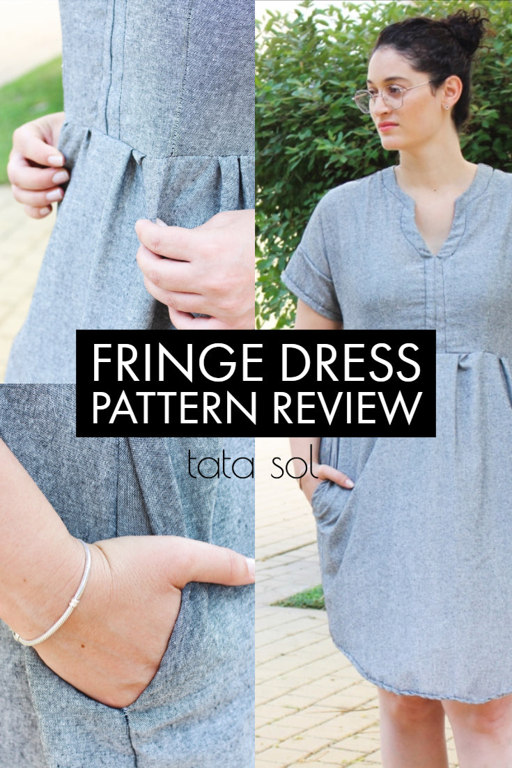 Fringe dress by chalk and notch pattrn review