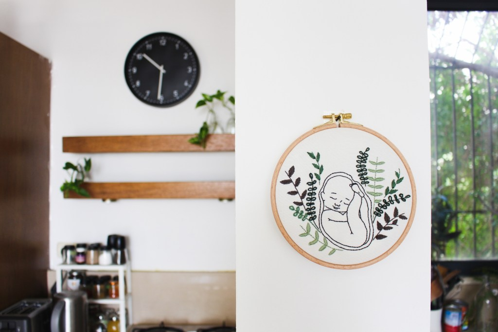 baby shower embroidery kit