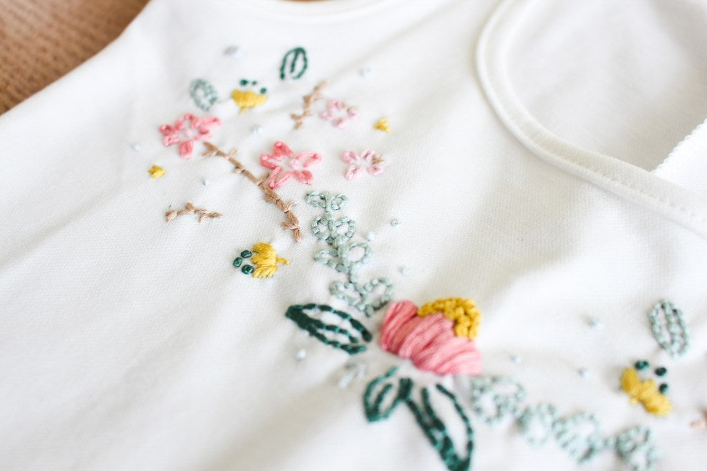 floral dress embroidery tutorial