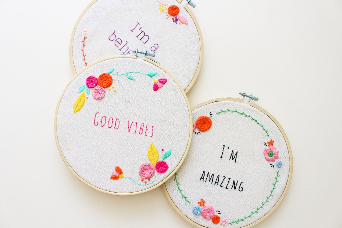 Embroidery pattern bandle