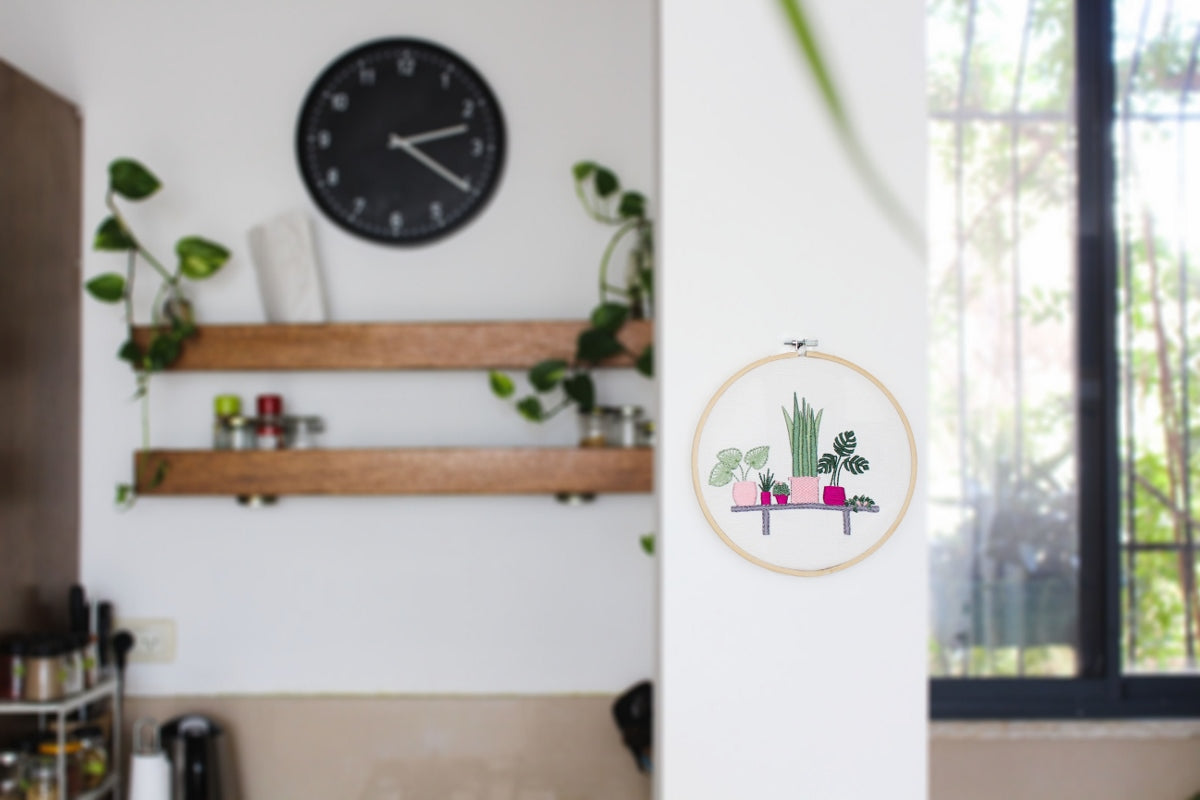 modern plant embroidery