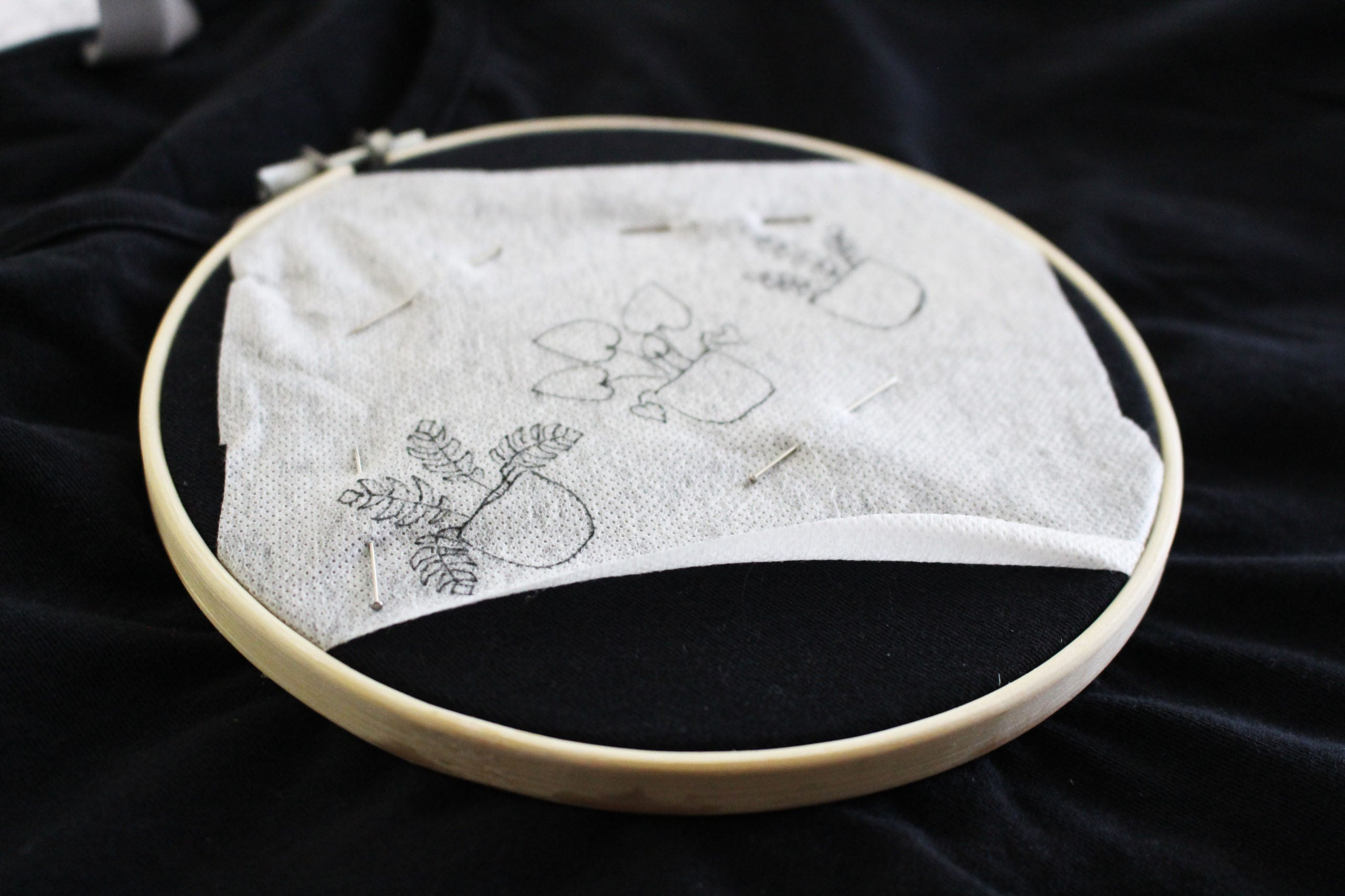 how to use water soluble stabilizer for embroidery