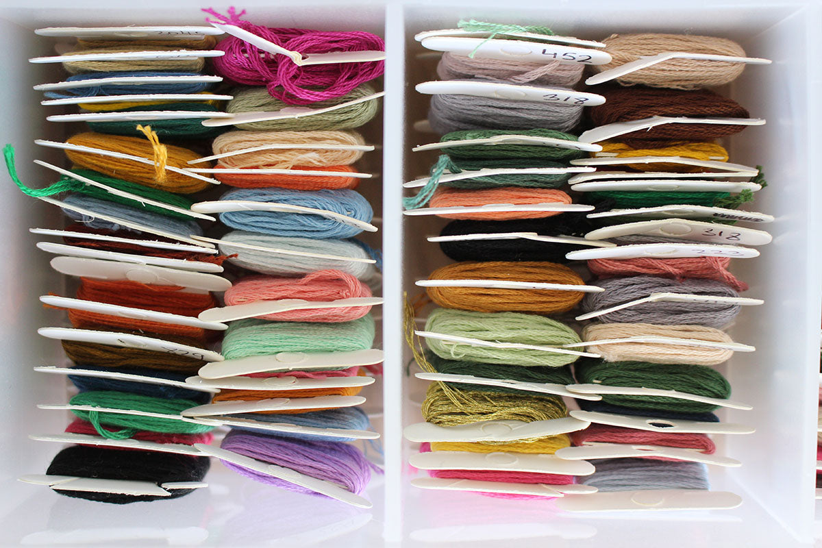 how to organize embroidery threads
