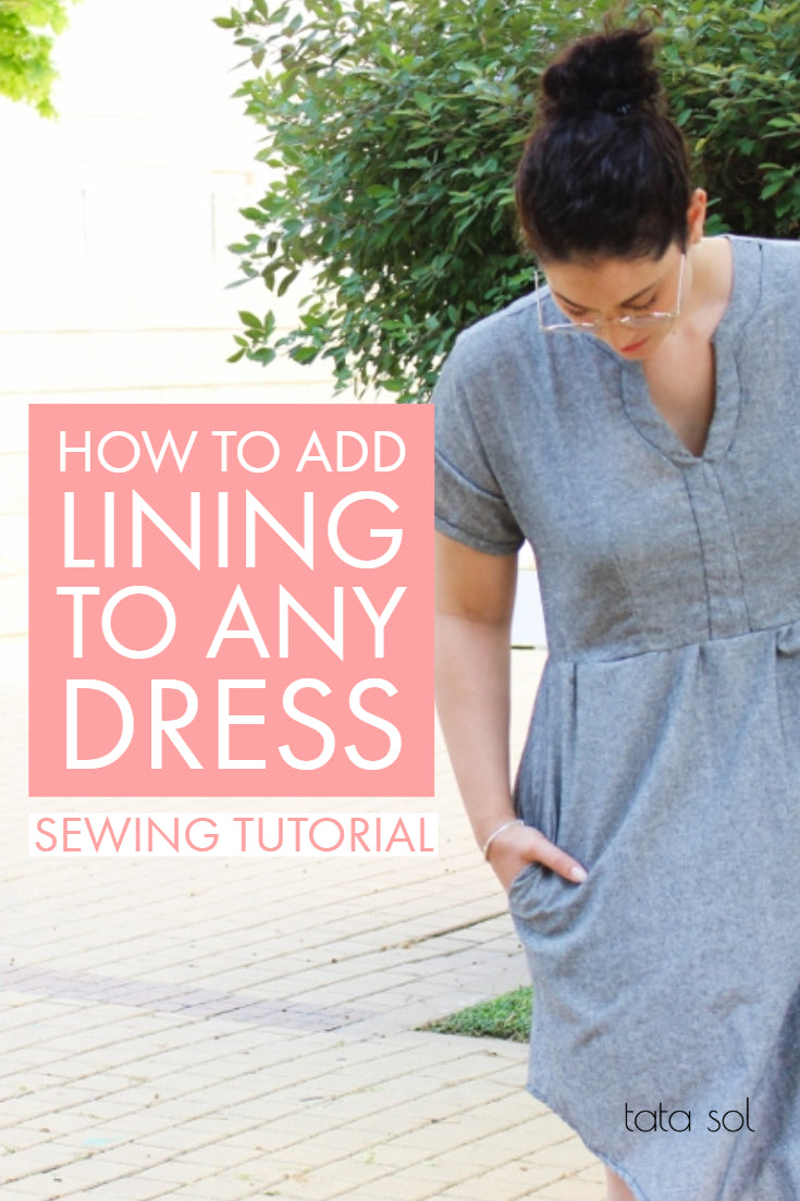 How to add lining to dress