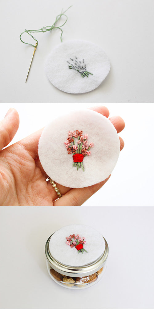 flower bouquet embroidery tutorial