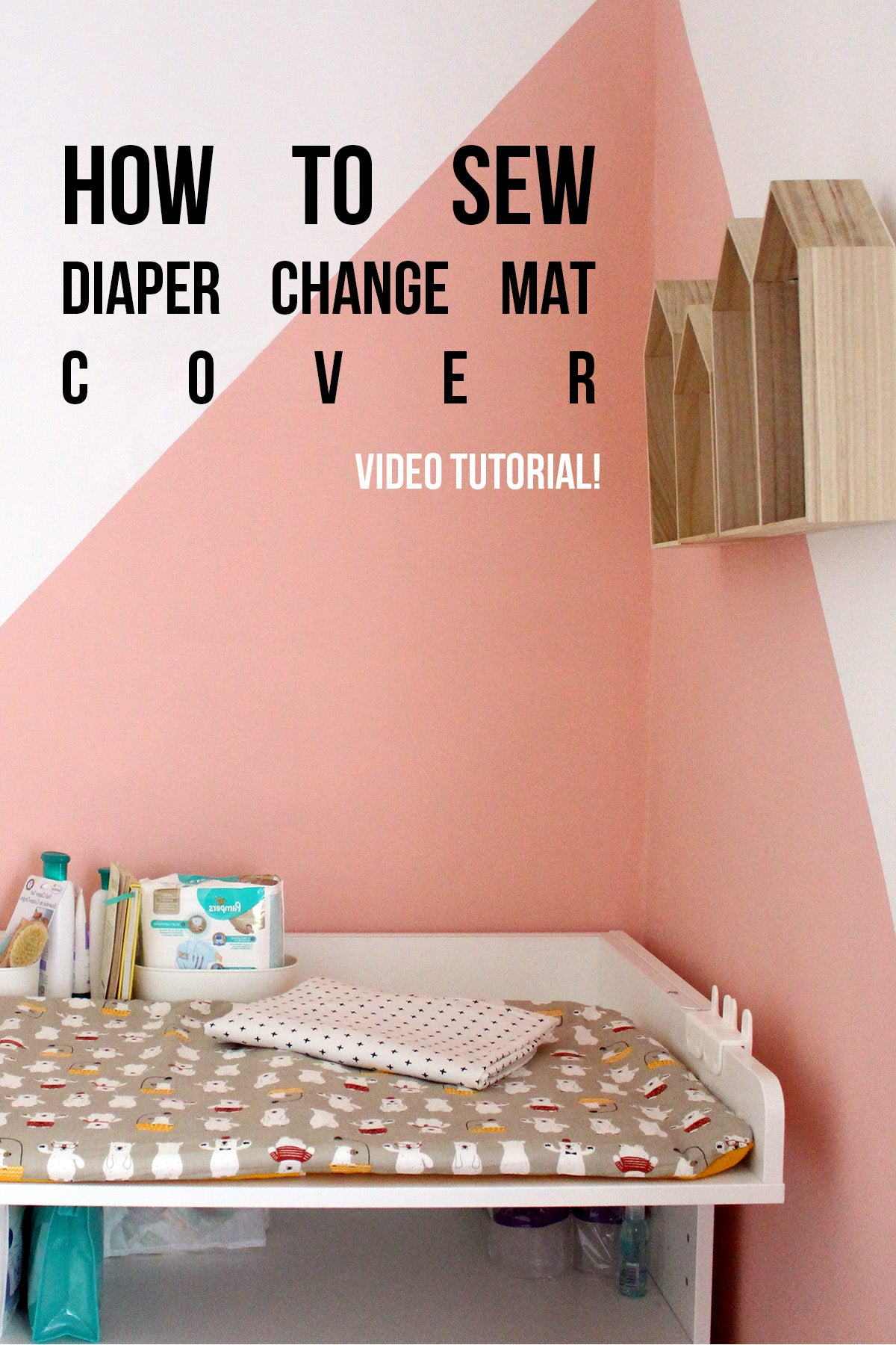 How to sew diaper change mat cover