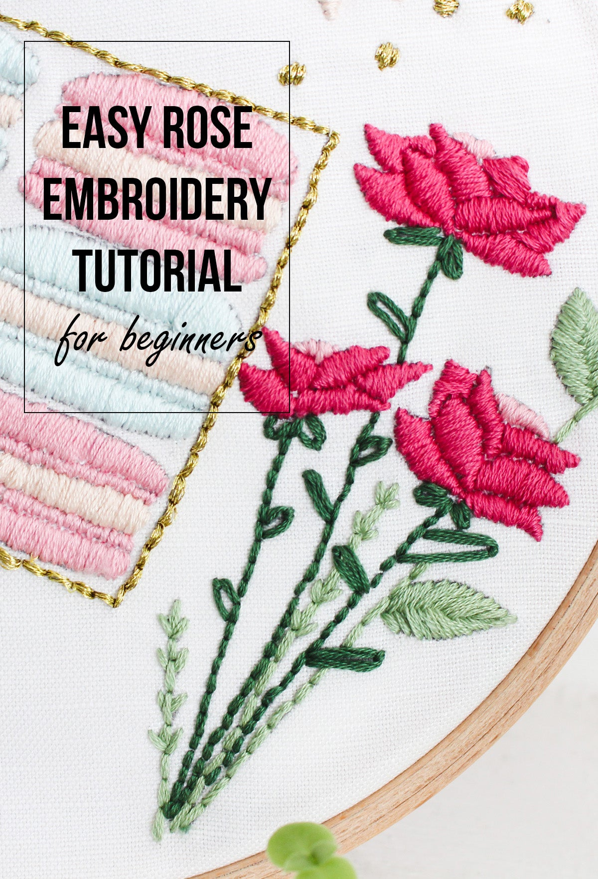easy rose embroidery