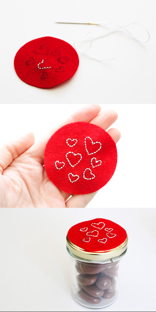 hearts embroidery tutorial