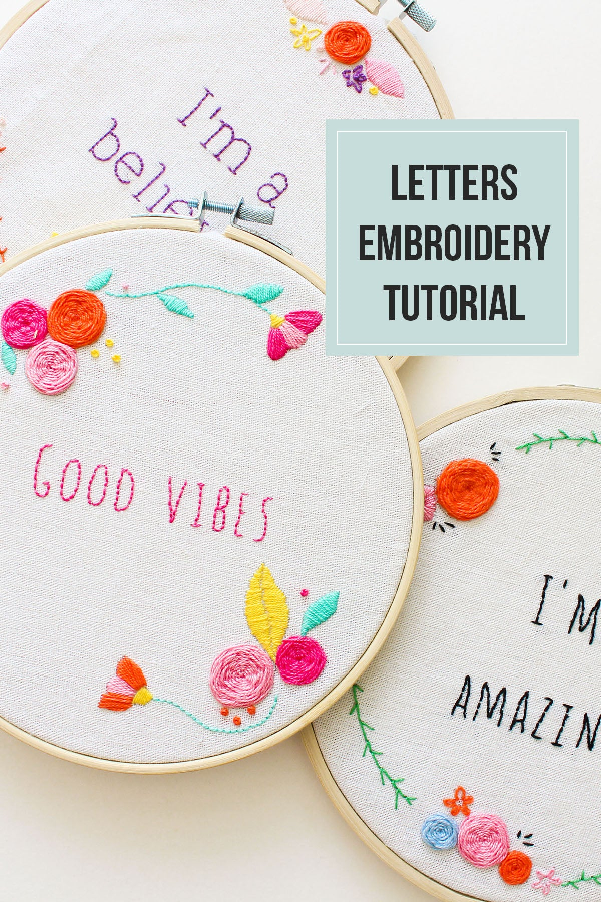 letters embroidery tutorial