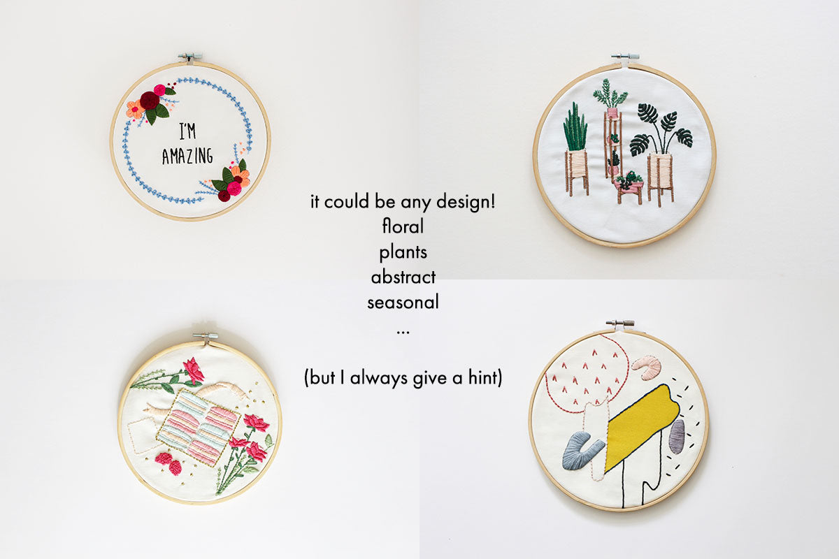 Surprise embroidery kit 50% off