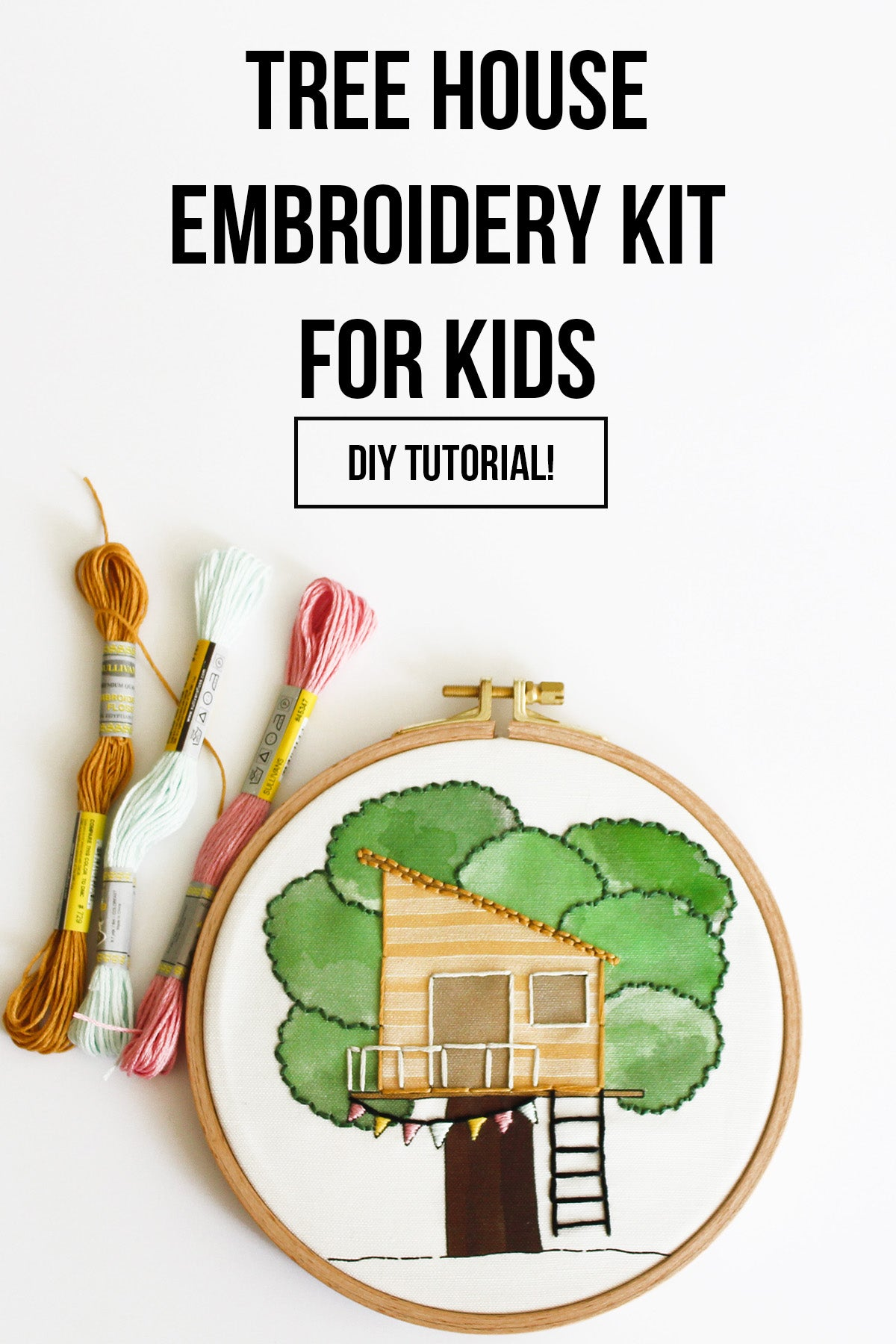 Tree House Embroidery Kit For Kids And Beginners