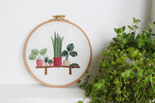 Load image into Gallery viewer, bench plants embroidery kit