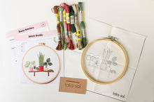 Load image into Gallery viewer, bench plants embroidery kit package
