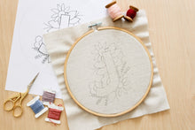 Load image into Gallery viewer, letter J embroidery pattern