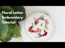 Load and play video in Gallery viewer, Floral letter M embroidery pattern
