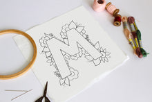 Load image into Gallery viewer, Letter M embroidery pattern
