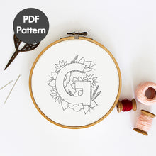 Load image into Gallery viewer, Letter G embroidery pattern
