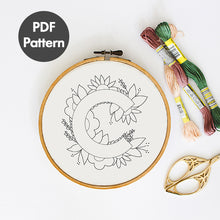 Load image into Gallery viewer, letter C embroidery pattern