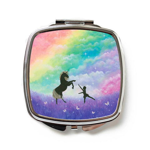 Dance With Unicorns Compact Mirror