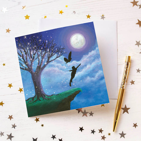 Fly To The Moon Greeting Card