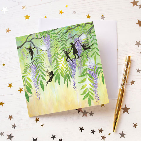 Play With Fairies Greeting Card